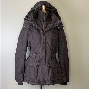 Espirit | Brown Winter Jacket Faux Fur Hood 8